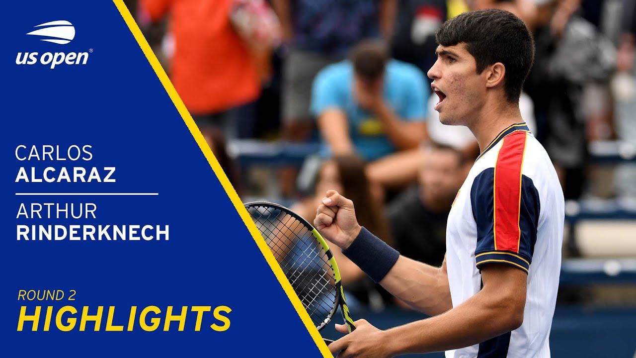 Carlos Alcaraz vs Arthur Rinderknech Highlights | 2021 US Open Round 2