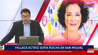 #LoÚltimo | Fallece actriz Sofía Rocha en San Miguel