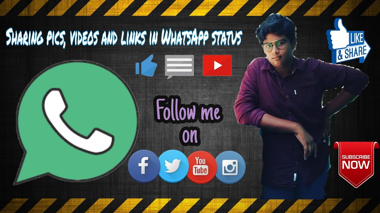 How To Share A Photo Video Or Any Youtube Videolink In Whatsapp Status In Telugu