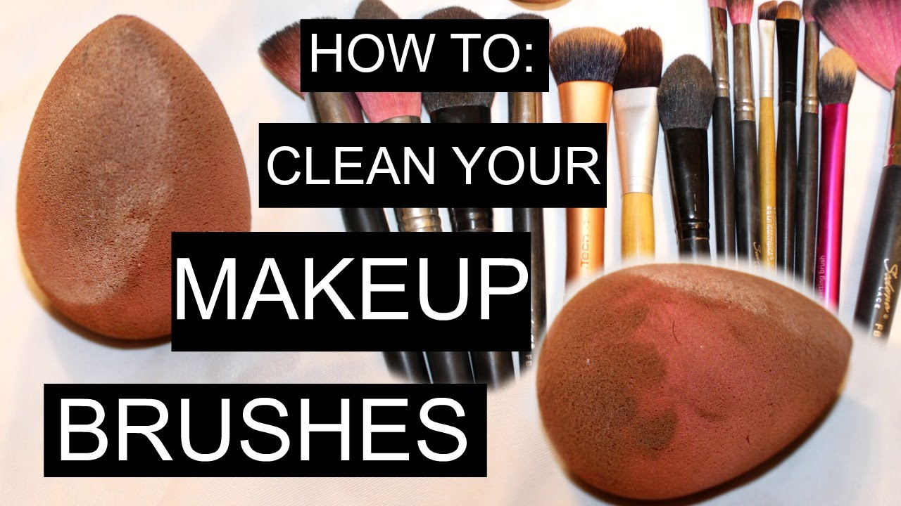 How to clean makeup