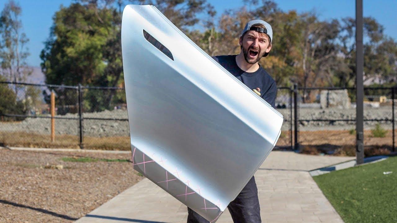 Can We Skate a Tesla Model S door?!?