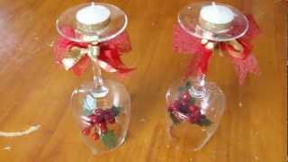 Centro de mesa con velas para cena de fin de año