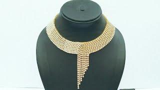 How To Make Bridal Necklace // Designer Pearls  Necklace // DIY // Chokar // Home Made Tutorial