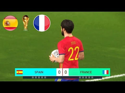 PES 2018 World Cup Final Spain Vs. France Full Match Legend