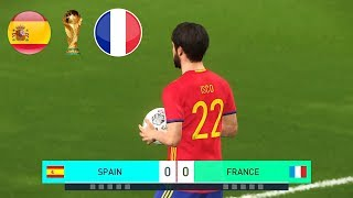 PES 2018 World Cup Final Spain Vs. France Full Match Legend Level