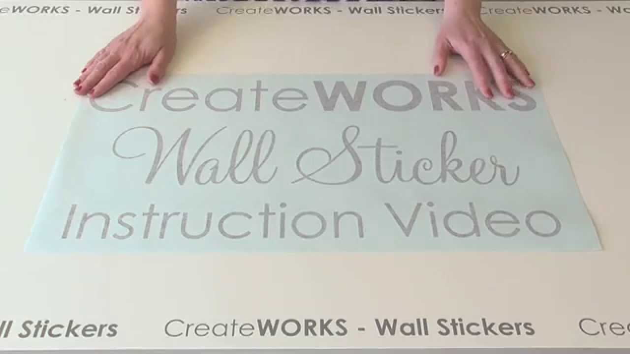 how to use a wall sticker wall decal instruction video by how to use a wall sticker wall decal instruction video by createworks