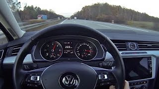 VW Passat B8 2 0 TDI POV Autobahn TOP SPEED RUN