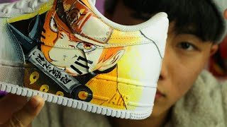 Custom NARUTO Air Force 1s for JIMMY ZHANG