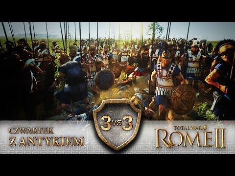 TW: Rome 2 Bitwa MULTI #086 3vs3 Czwartek z Antykiem 25.06.15 - Niesforna falanga