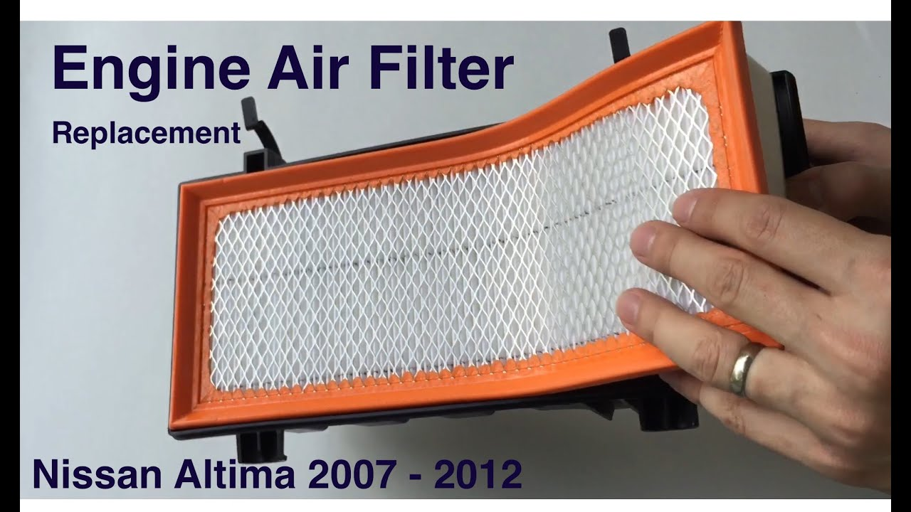 Engine Air Filter Replacement 2007 2012 Nissan Altima