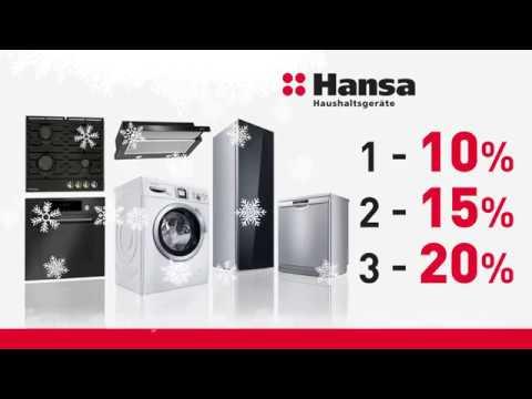 Новогодние скидки на технику Hansa