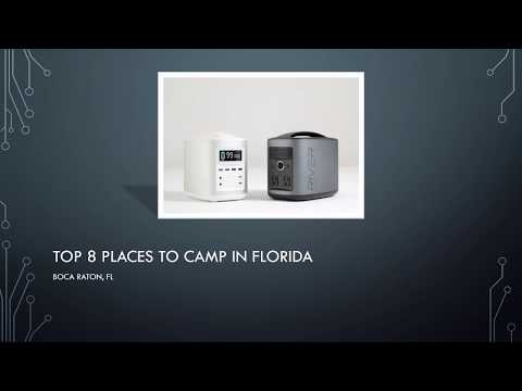 Top 8 Places To Camp In Florida   Portable Battery Systems