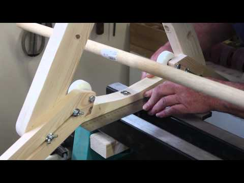 How to turn a very long wooden pole or spindle