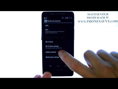 Motorola Droid Razr M - How Do I Allow Data Roaming Access