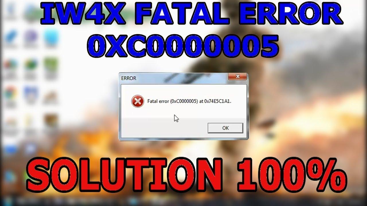 Fatal Error 0xc0000005 At 0x004b0112