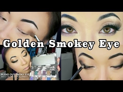 Makeup Follow Along: Golden Smokey Eye By Yaya Han