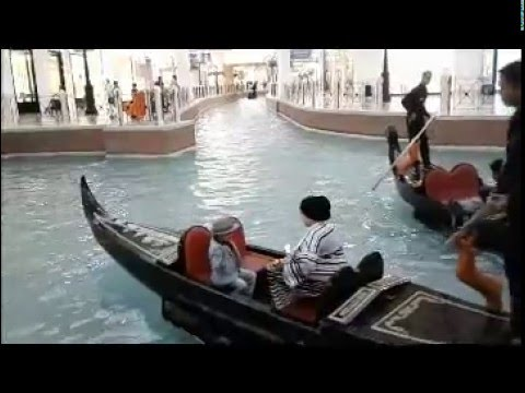 Shopping And Boating Inside The Mall In Doha Qatar