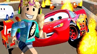 Roblox / Escape Cars 3 Obby Save Lightning McQueen / GamingwithPawesomeTV