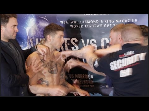 PURE BEEF!! JACK ARNFIELD v BRIAN ROSE SEPARATED BY SECURITY @ INTENSE WEIGH IN & HEAD TO HEAD