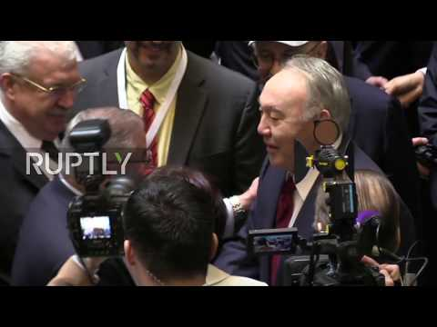 Kazakhstan: Fmr President Nazarbayev votes in snap presidential election in Nursultan