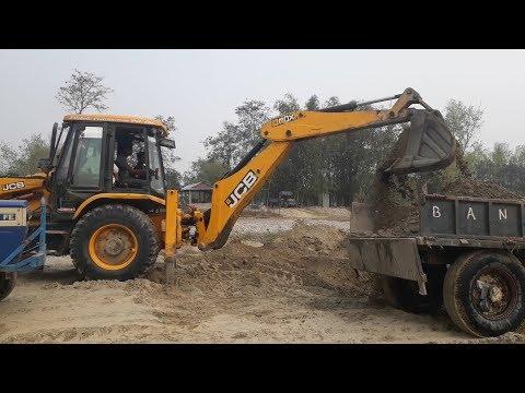 JCB Dozer Working on Sandy Mud - JCB Loading Sandy Mud in Tractor - JCB VIDEO - 동영상