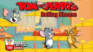 Fun TOM AND JERRY SHOW - ROLLING CHEESE. Tom and Jerry 2017 Games. Baby Games  #LITTLEKIDS