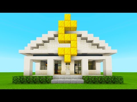 """Minecraft Tutorial: How To Make A Bank """"2019 City Tutorial"""""""