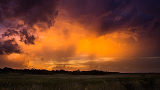 Thunderstorm Twilight - Everglades, Florida, USA [TIME-LAPSE]