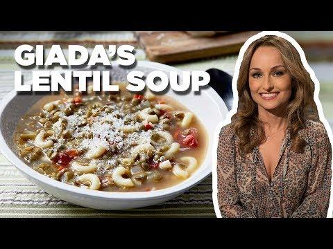 Giada De Laurentiis Makes Lentil Soup | Food Network