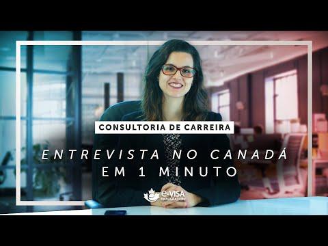 ENTREVISTA DE EMPREGO no CANADÁ - em 1 MINUTO