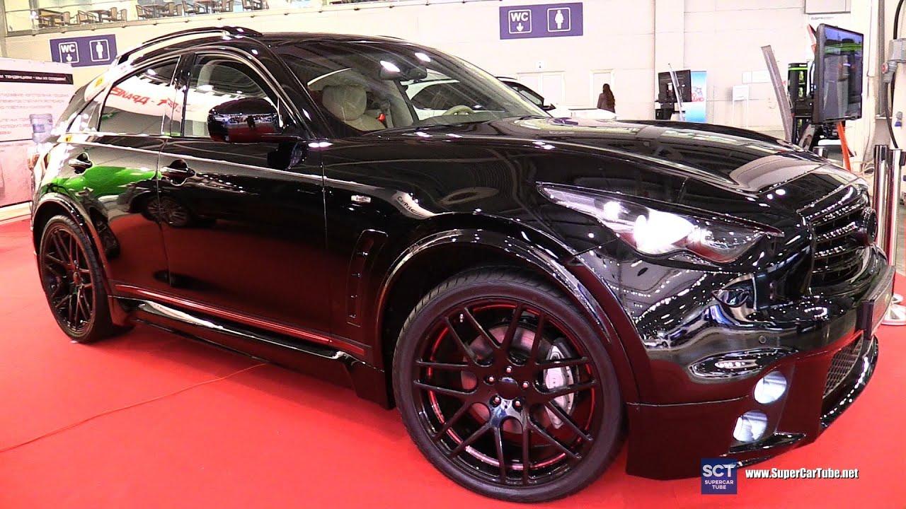 Black Qx70 >> Infiniti QX70 FERZ Black Edition - Exterior Walkaround - 2016 Moscow Automobile Salon - YouTube