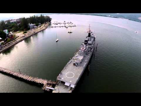 Royal Malaysian Navy KD Rahmat - Aerial View