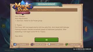 Magic rush: New update, thonos skin and huge buffs to thanos