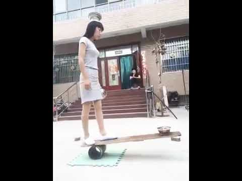 How a girl is presenting her talent