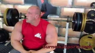 Robert Burneika & easy bench press 440 lbs (200kg) for 9 reps 2017 Video