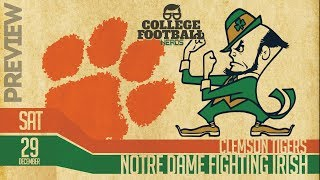 Clemson vs Notre Dame 2018 College Football Playoff Preview & Predictions & Computer Model