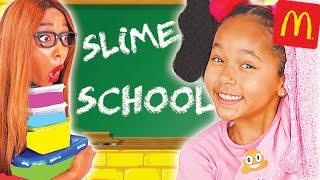 SLIME SCHOOL: Nouveau Challenge SLIME NOURRITURE, le gagnant remporte du Mc Donalds !