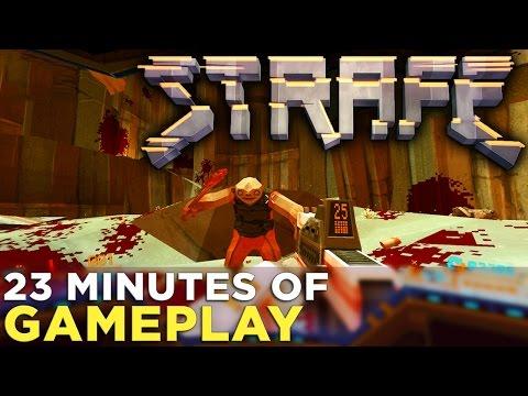 STRAFE: First 3 Levels of Gameplay + Wolfenstein Mini-Game!
