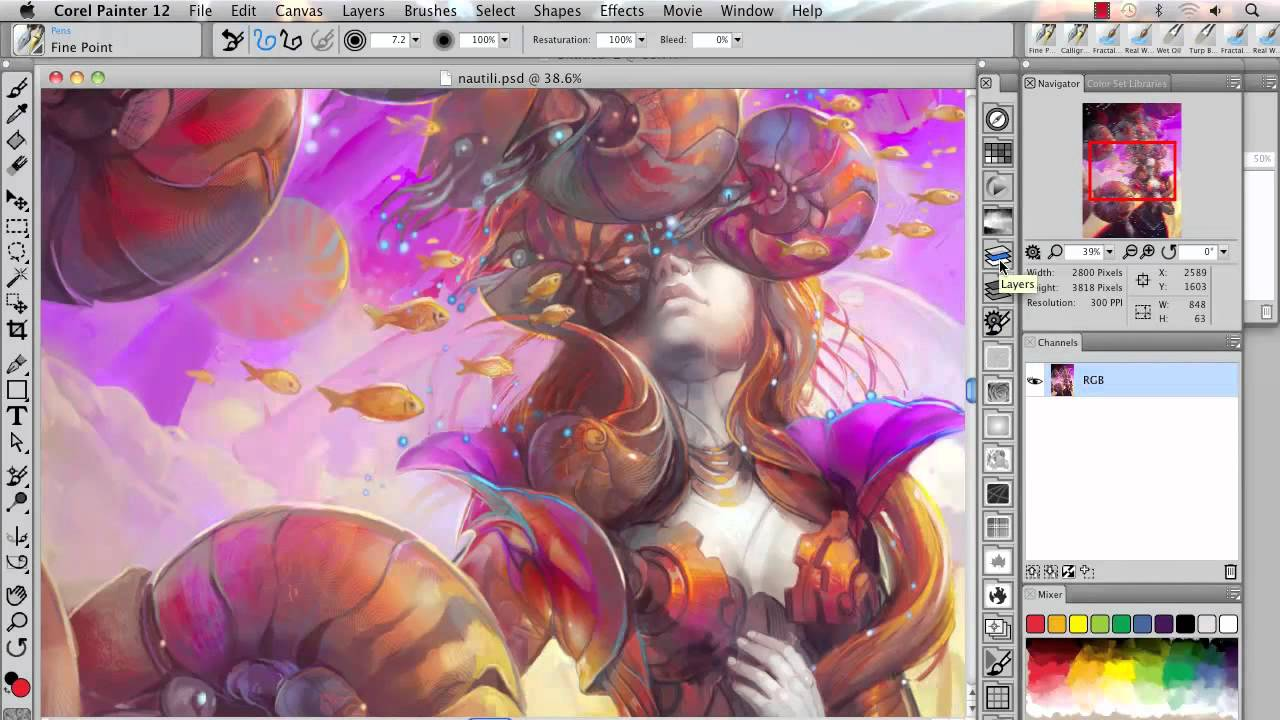 how to add grid in corel painter essentials