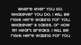 white dawg - right here waiting lyrics