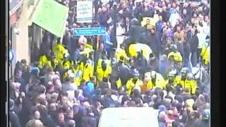 Football Hooligans - Chelsea V Cardiff City 2010 Fulham Road CCTV