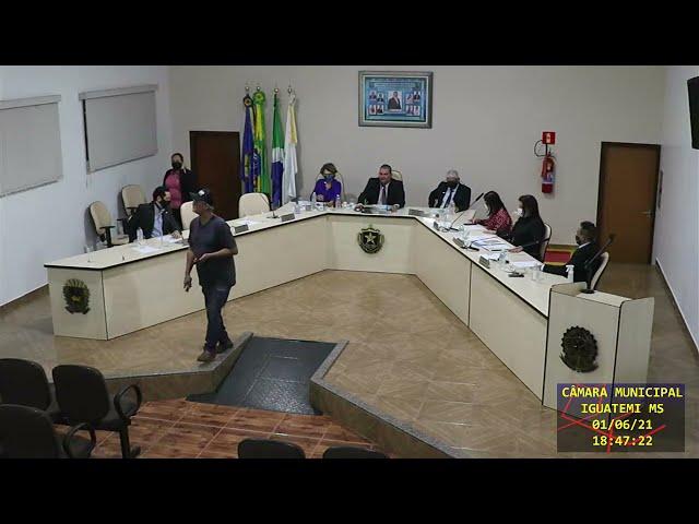 01/06/2021 Transmissão ao vivo Câmara Municipal de Iguatemi/MS