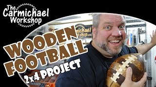 Wooden Football - Nfl 2x4 Project