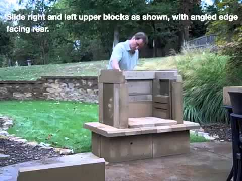 Perfect Outdoor Fireplace Kit Assembly Video