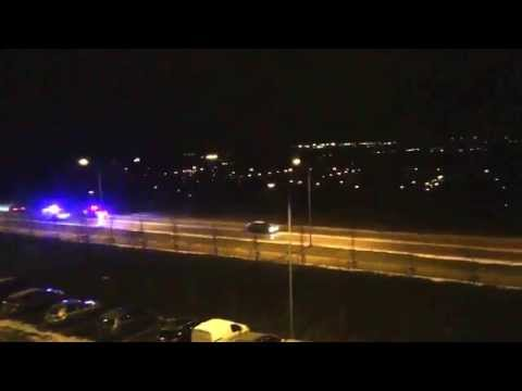 Night police chase in Tallinn