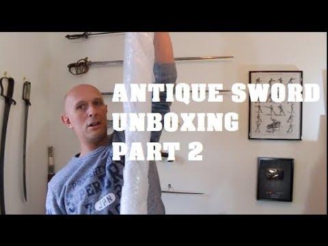 Antique sword unboxing with Matt Easton (Part 2)