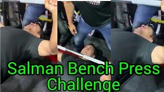 Salman Khan 60 bench press in 50 seconds | Bench Press Challenge