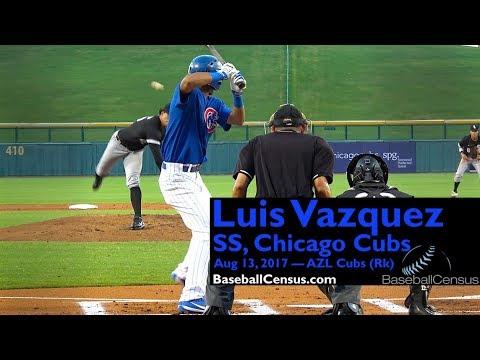 Luis Vazquez, SS, Chicago Cubs — August 13, 2017