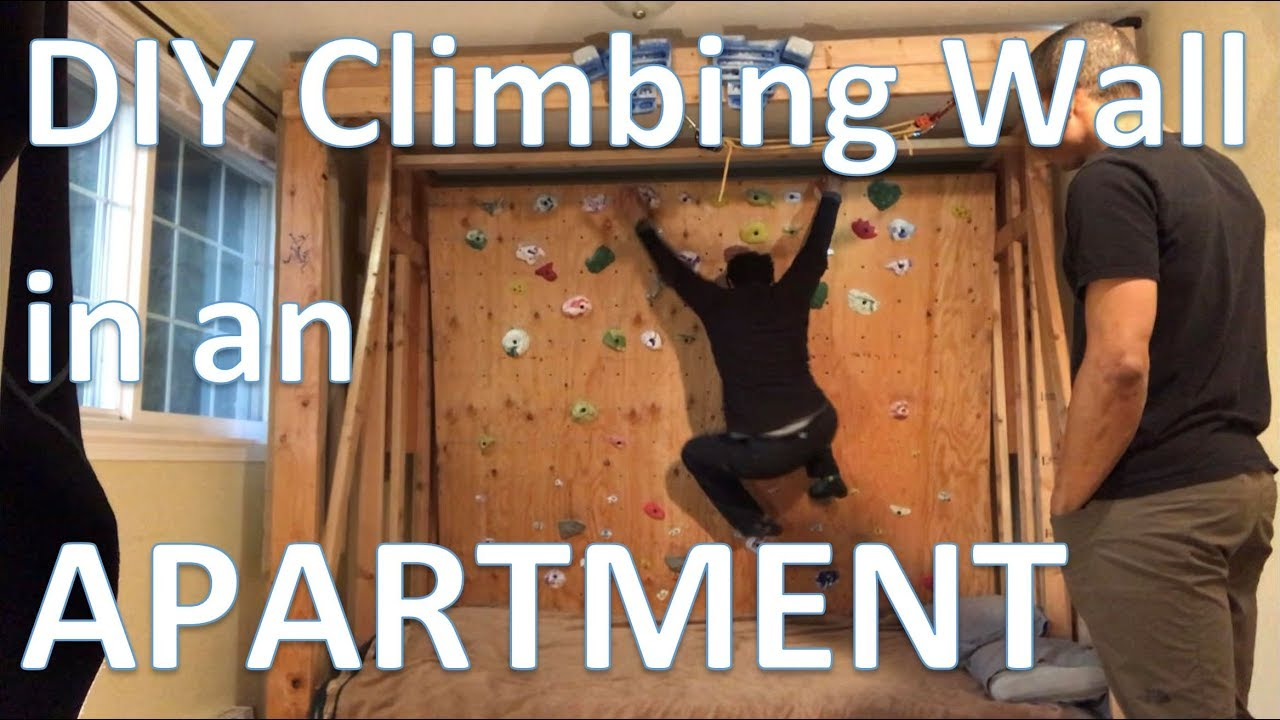 Diy Rock Climbing Wall In Your Apartment