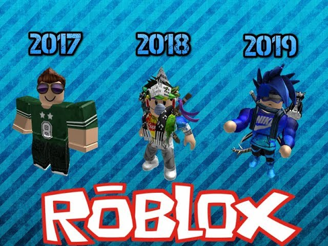 Evolucion De Mi Avatar De Roblox 2017 2019 Youtube